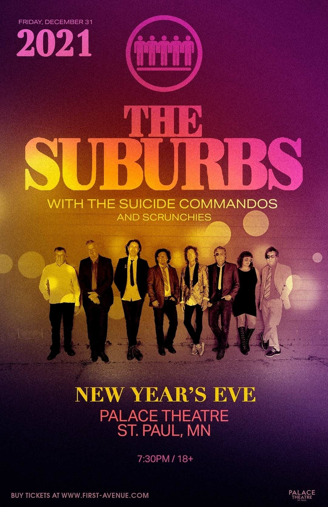 The Suburbs, Suicide Commandos and Scrunchies NYE show