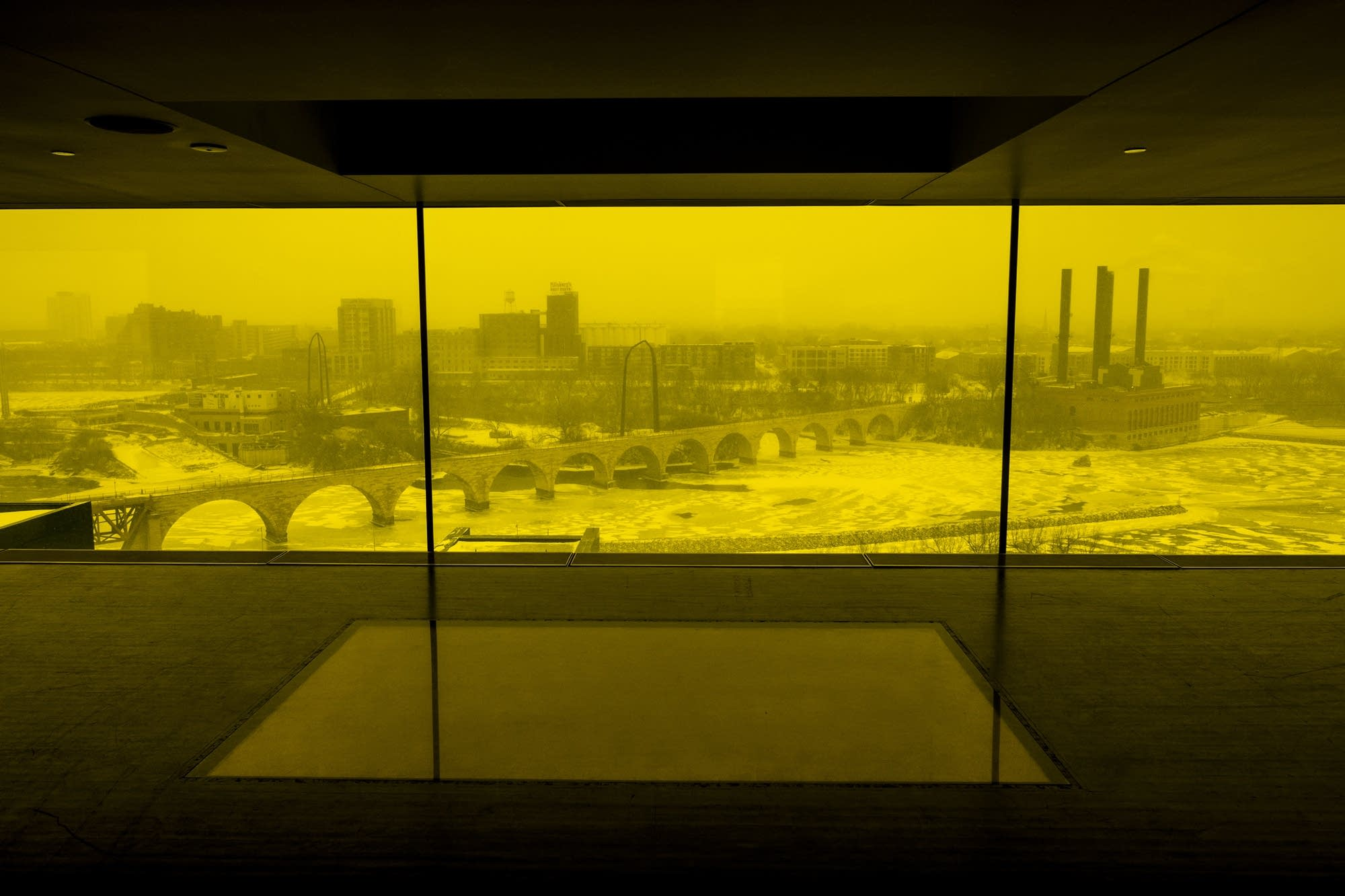The Mississippi River seen from the Guthrie's Amber Box room.