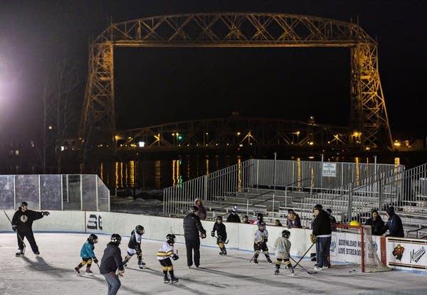 Each youth association got Bayfront rink time.