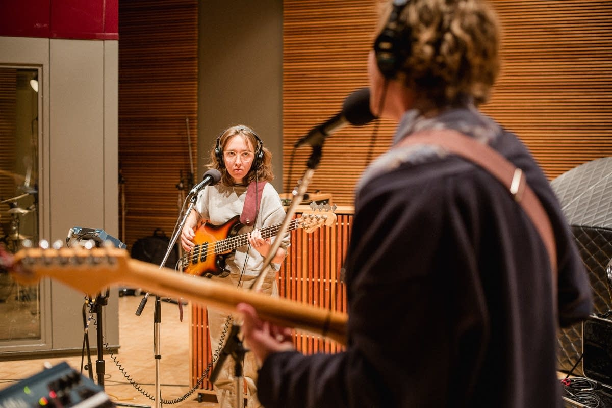 Pinegrove perform in The Current studio