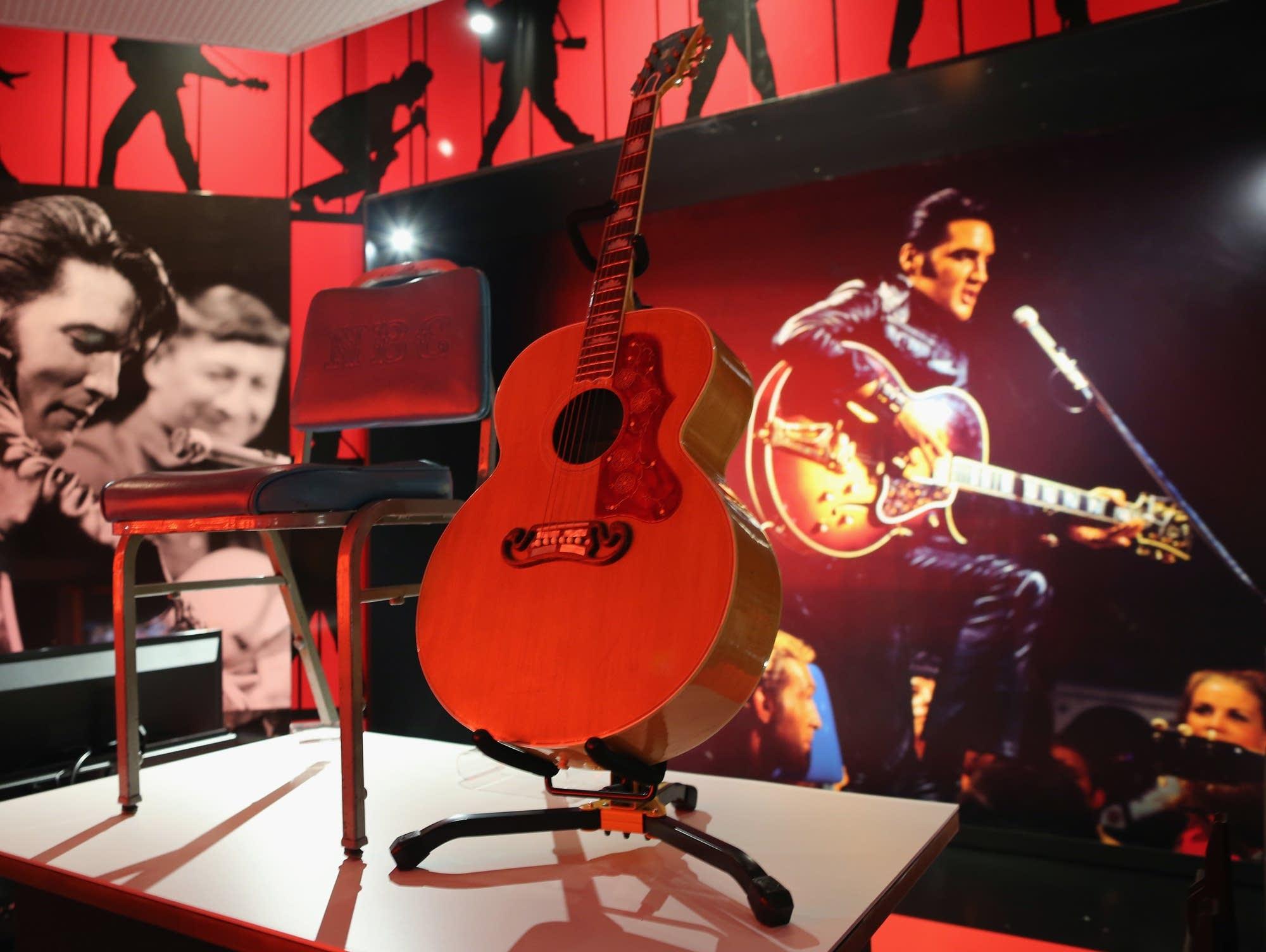 A guitar played by Elvis Presley in 1968.