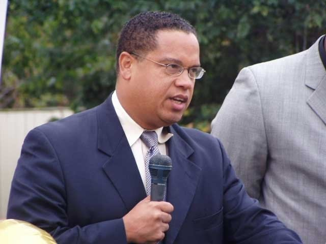 Keith Ellison at mosque groundbreaking