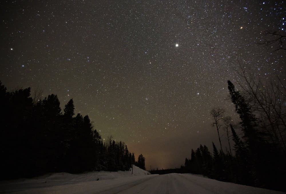 Stars shine over where the Ash River Trail
