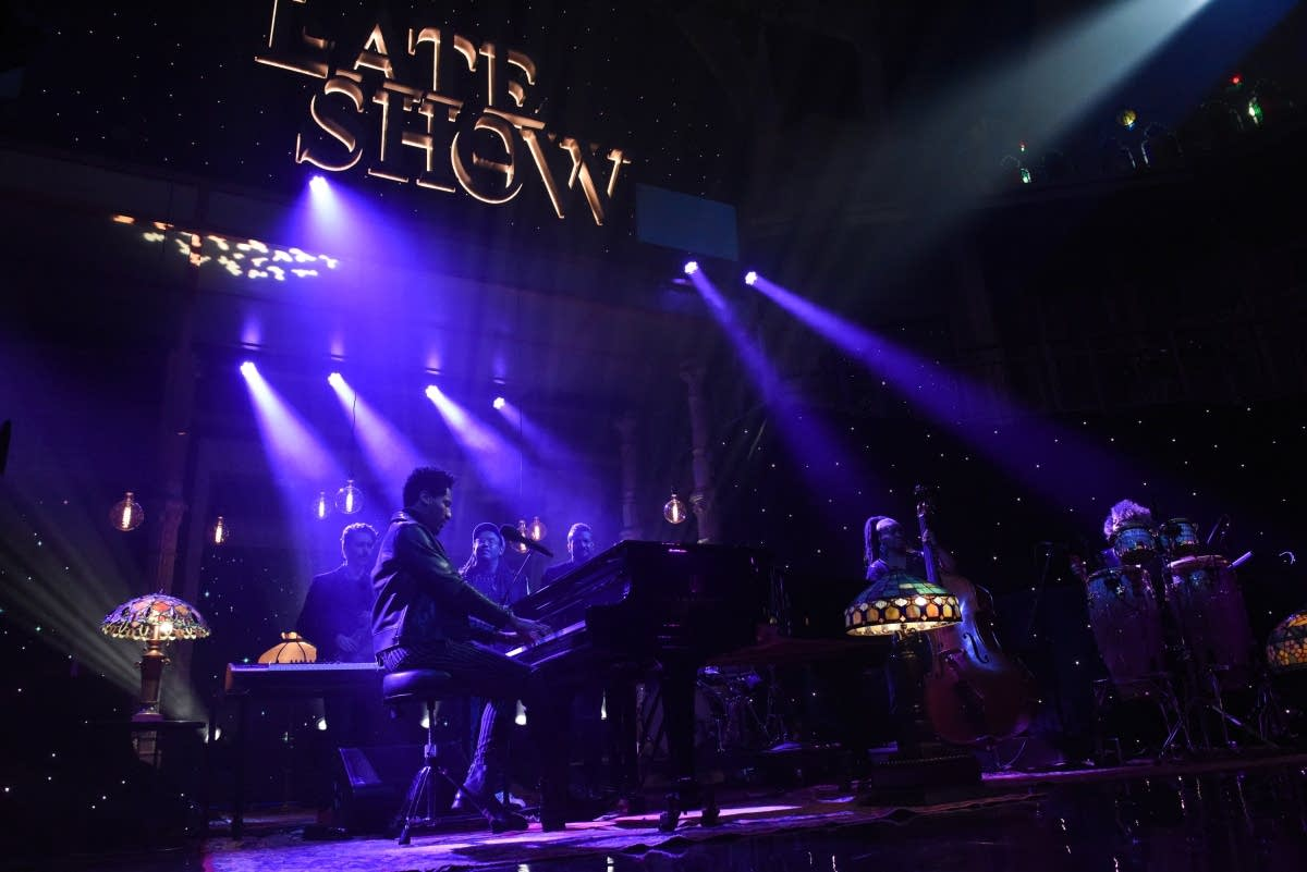 John Batiste performing on 'The Late Show with Stephen Colbert'