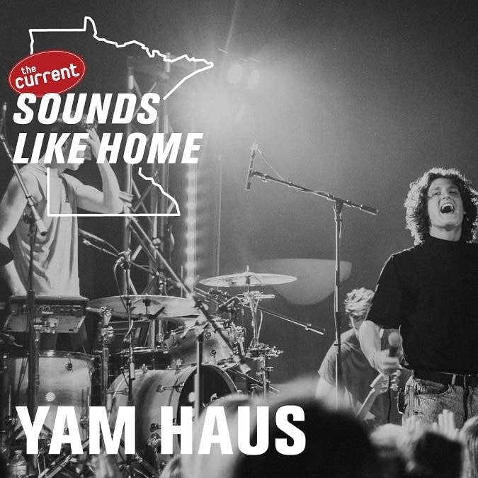 Digital flyer for Yam Haus's Sounds Like Home performance.