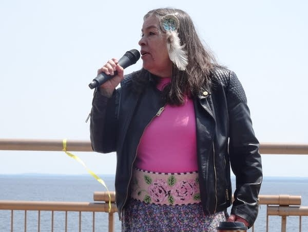 Babette Sandman, chair of the Duluth Indigenous Commission