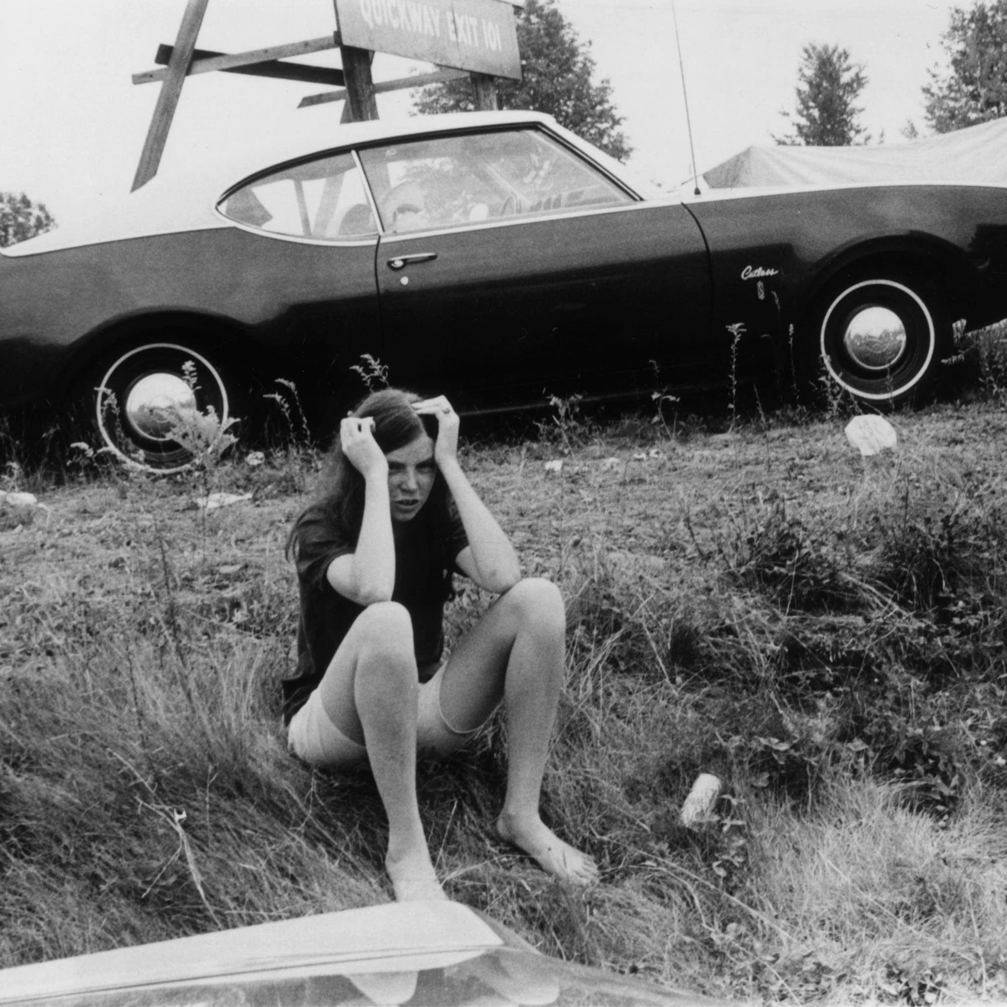 A festivalgoer at the original Woodstock in 1969.