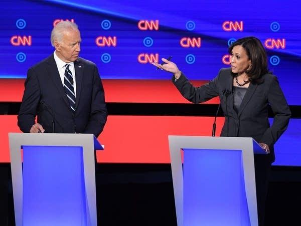 Former Vice President Joe Biden and California Sen. Kamala Harris