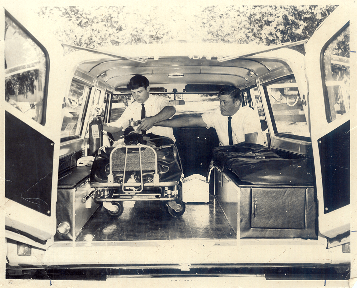 Photo from the early days of Ringdahl Ambulance Service.