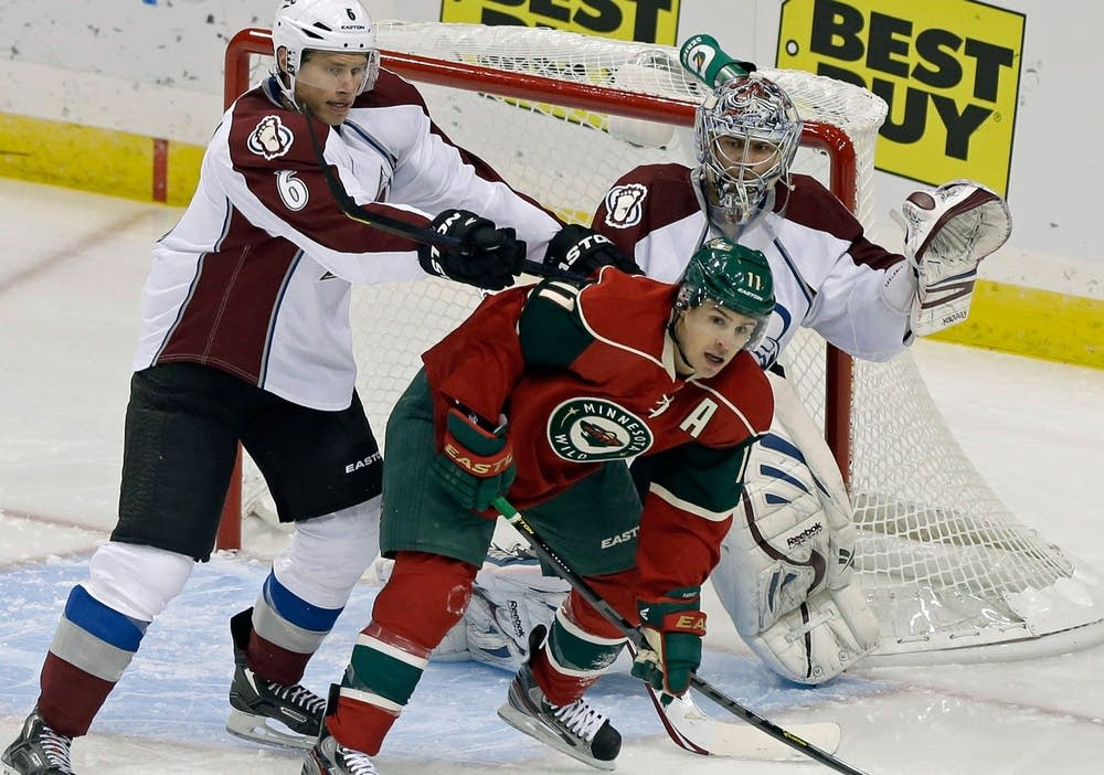 Zach Parise, Erik Johnson, Semyon Varlamov