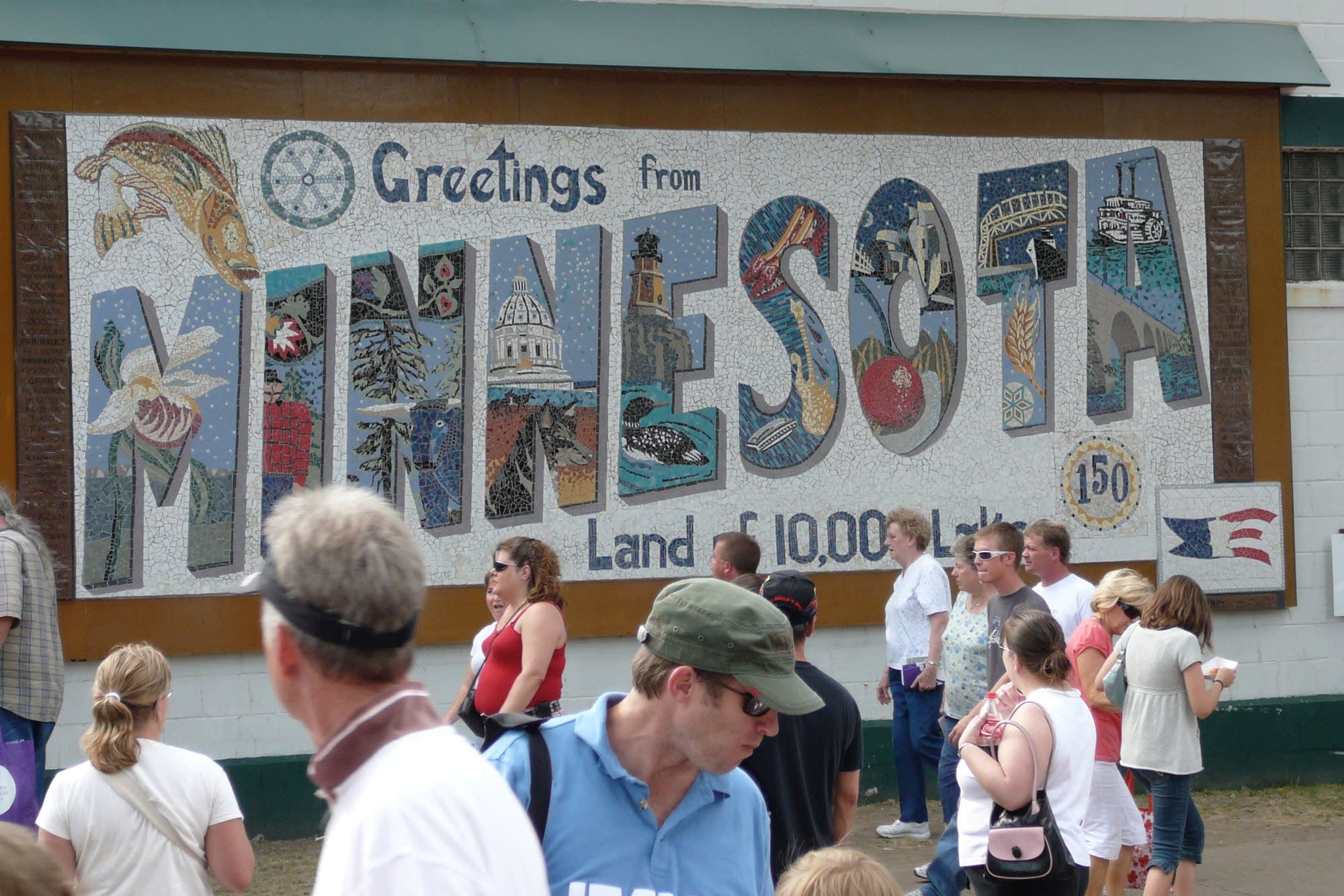 Minnesota mosaic at the Minnesota State Fair