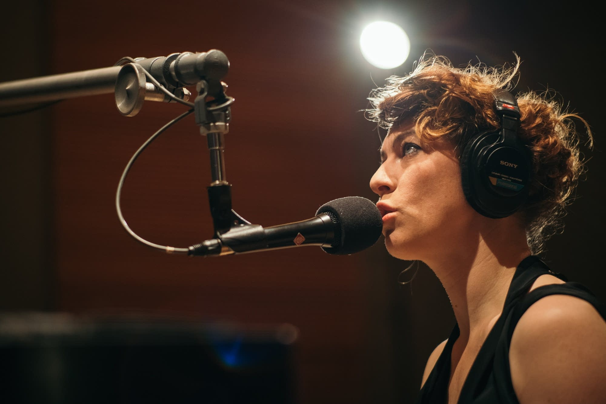 Amanda Palmer performs in The Current studio