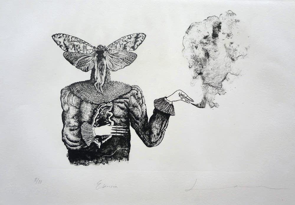A lithograph by Daniela Ramirez