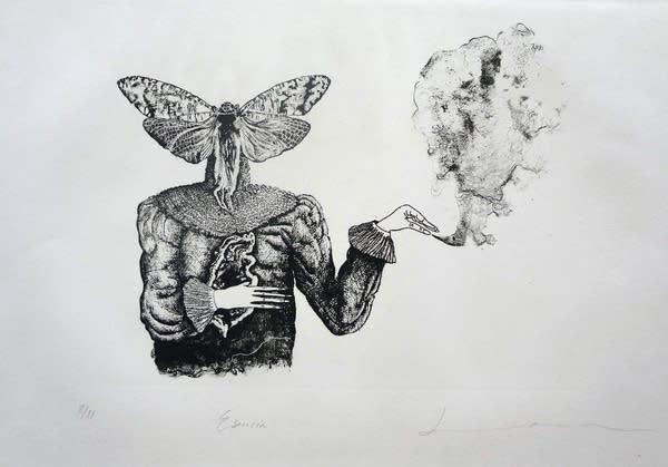 Esencia, lithograph, Daniela Ramirez