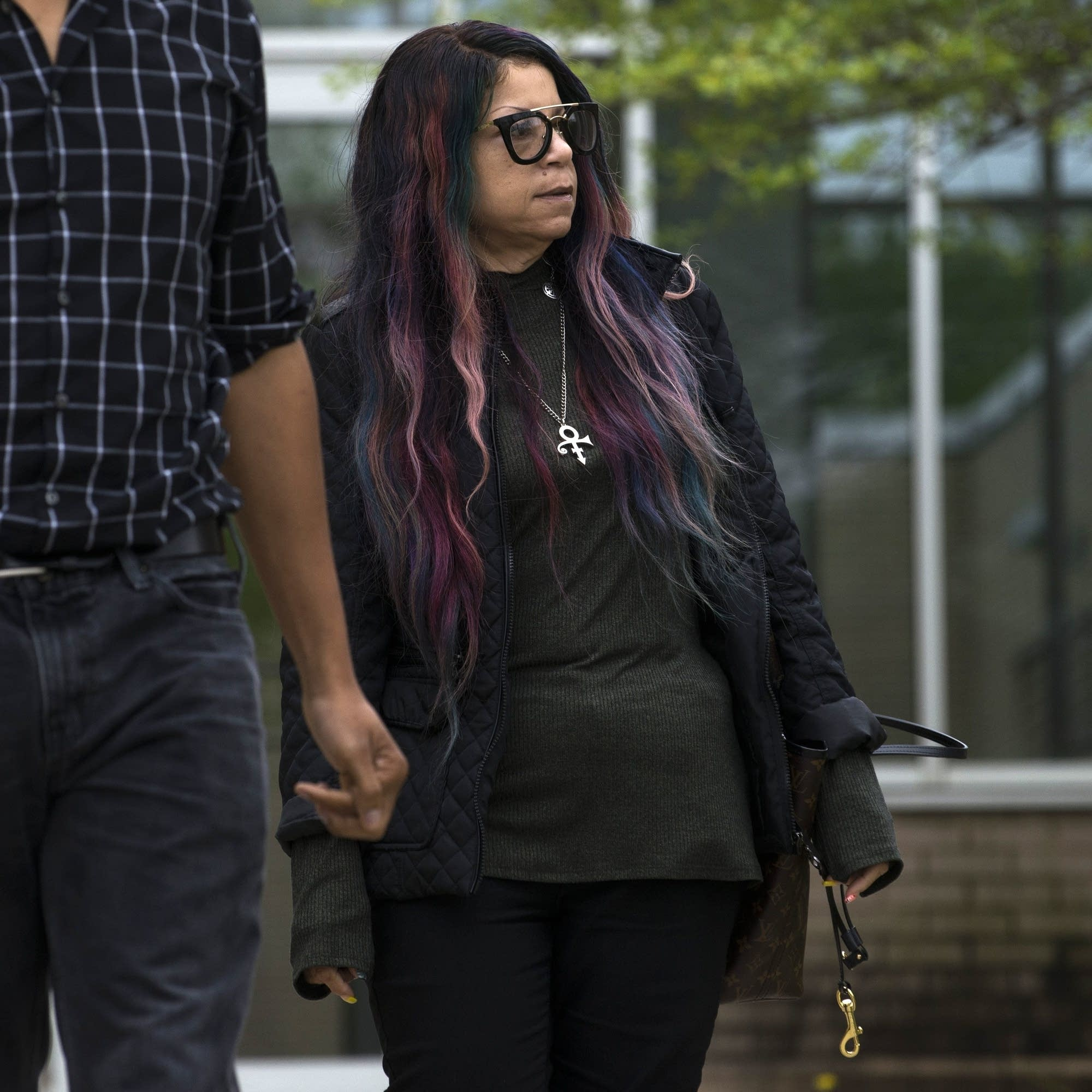 Tyka Nelson outside the Carver County District Court