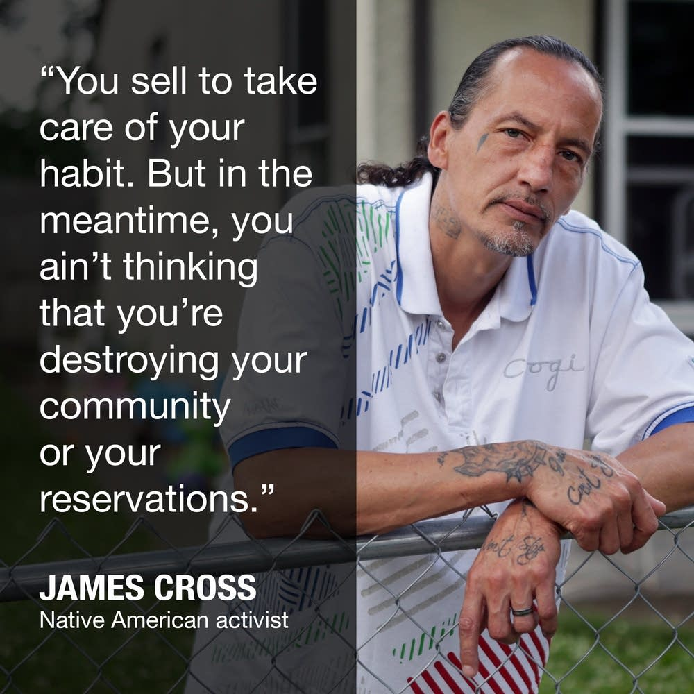 James Cross used to sell drugs. Now he works with people trying to kick opioid addiction.