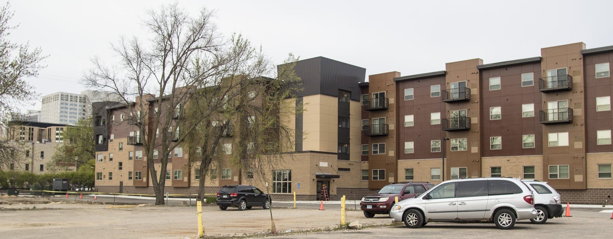 The new 68 unit 1st Avenue Flats apartment complex opened in April.