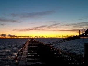 Dawn on Lake Superior, aboard the Paul R. Tregurtha