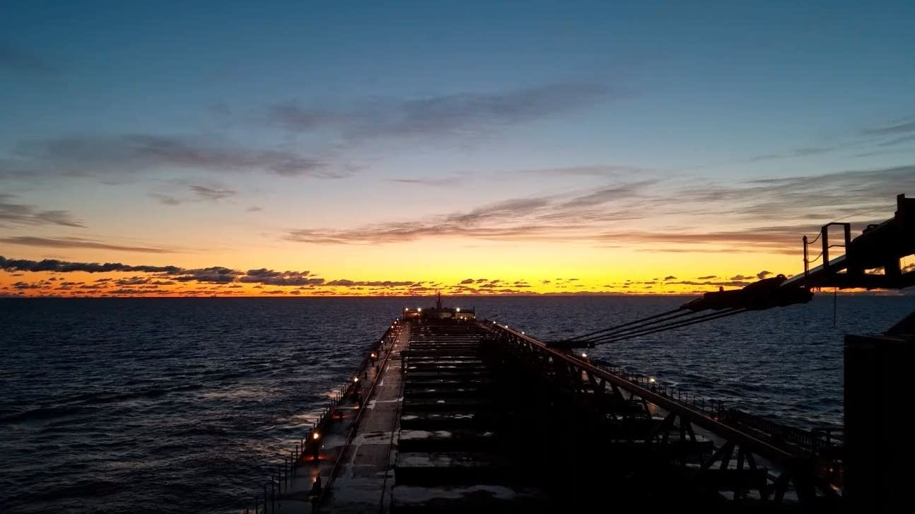 Dawn on Lake Superior, aboard the Paul R. Tregurtha
