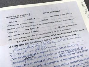 Rosa Parks court document