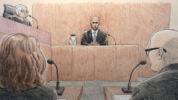 Mohamed Noor takes the stand Friday.