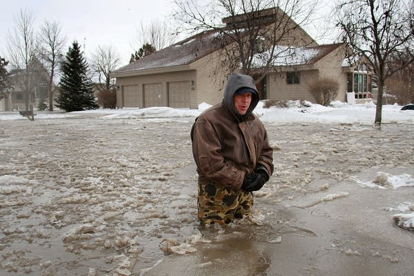 Icy flooding