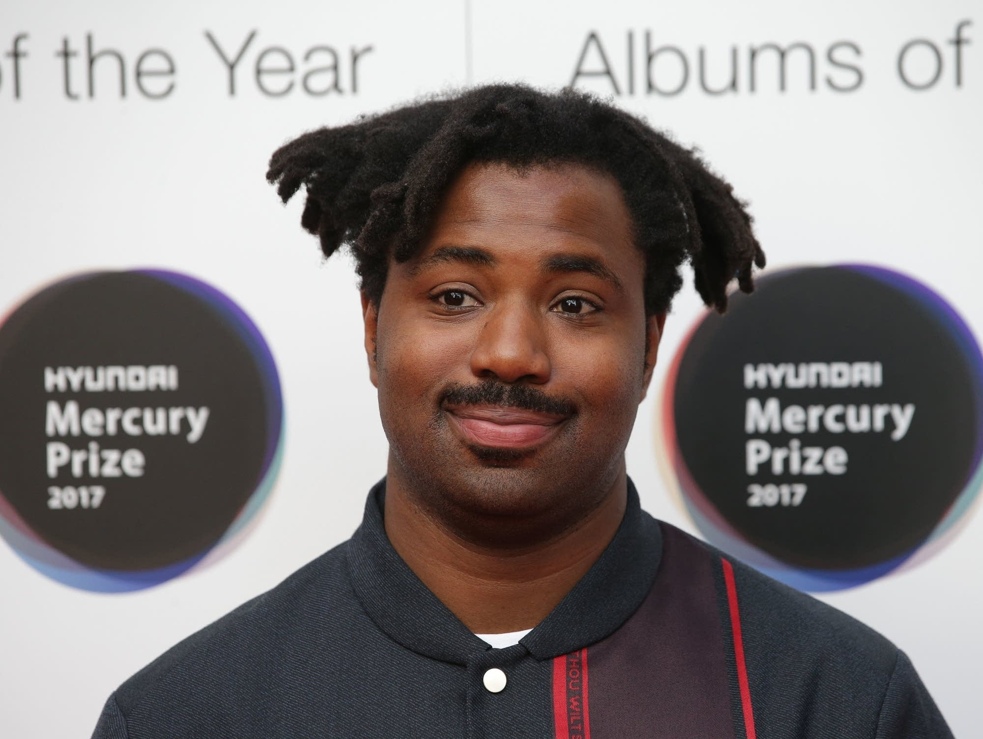 Sampha arrives at the 2017 Mercury Prize ceremony.