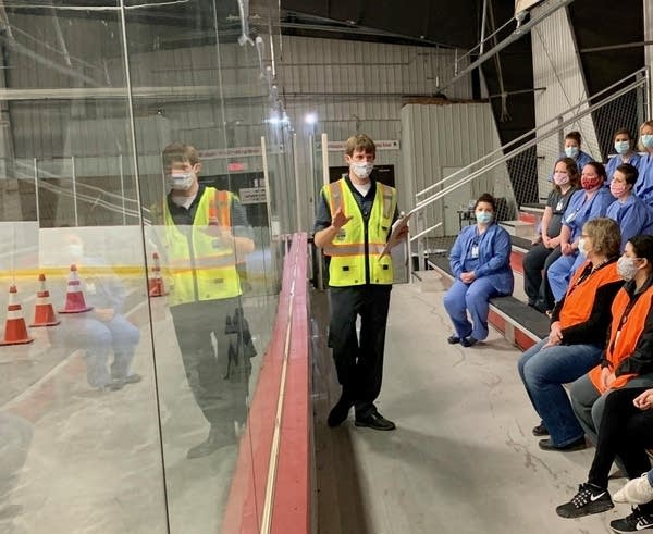 Sanford Health team members at a testing site.