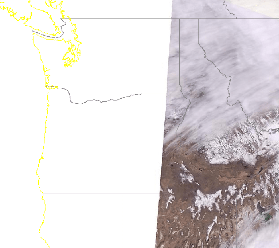 NASA MODIS visible satellite Pacific NW