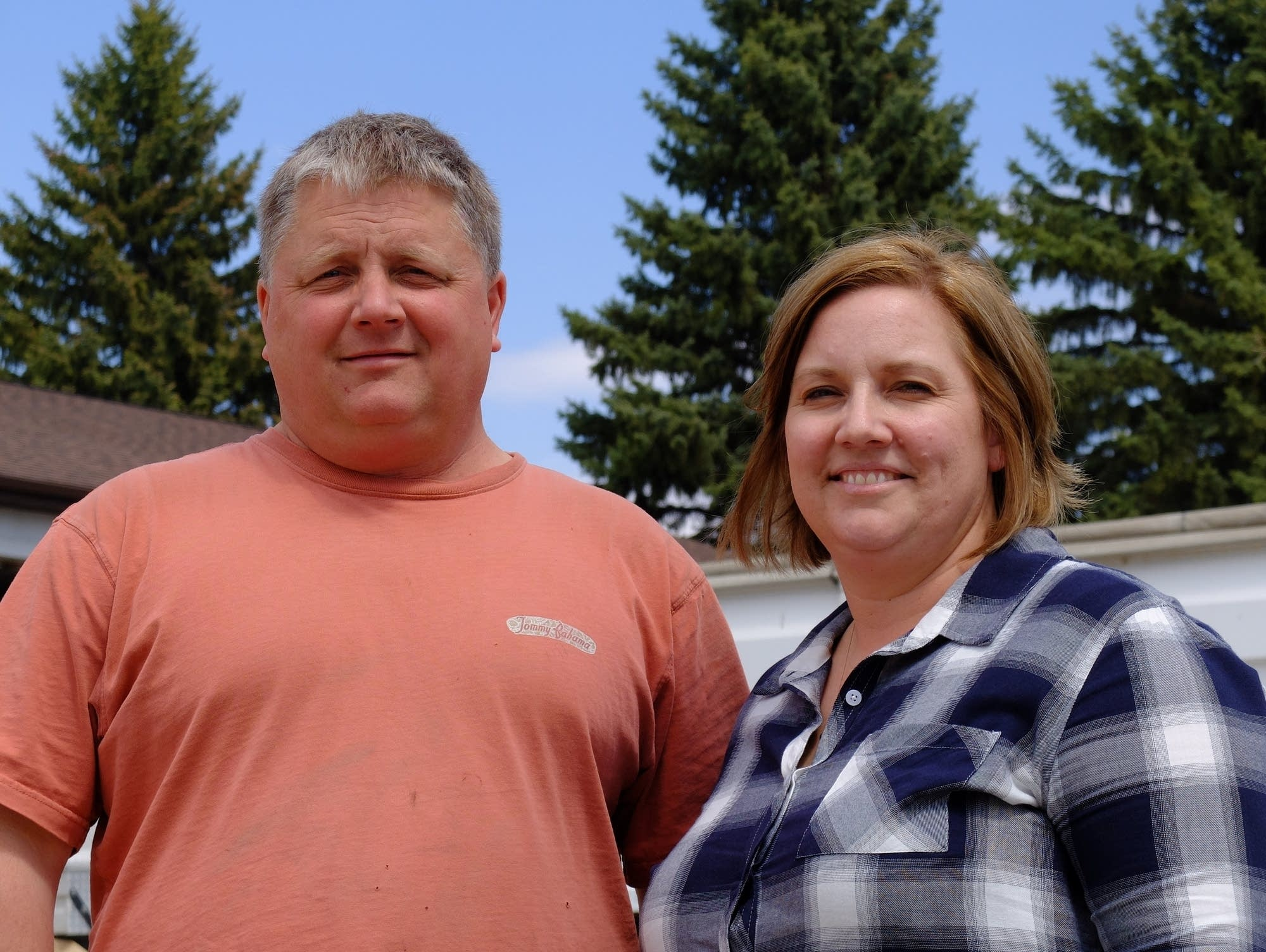 Betsy and Brian Jensen pause during the busy spring season.