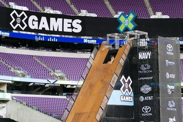 The Mega Ramp towers over the X Games park,