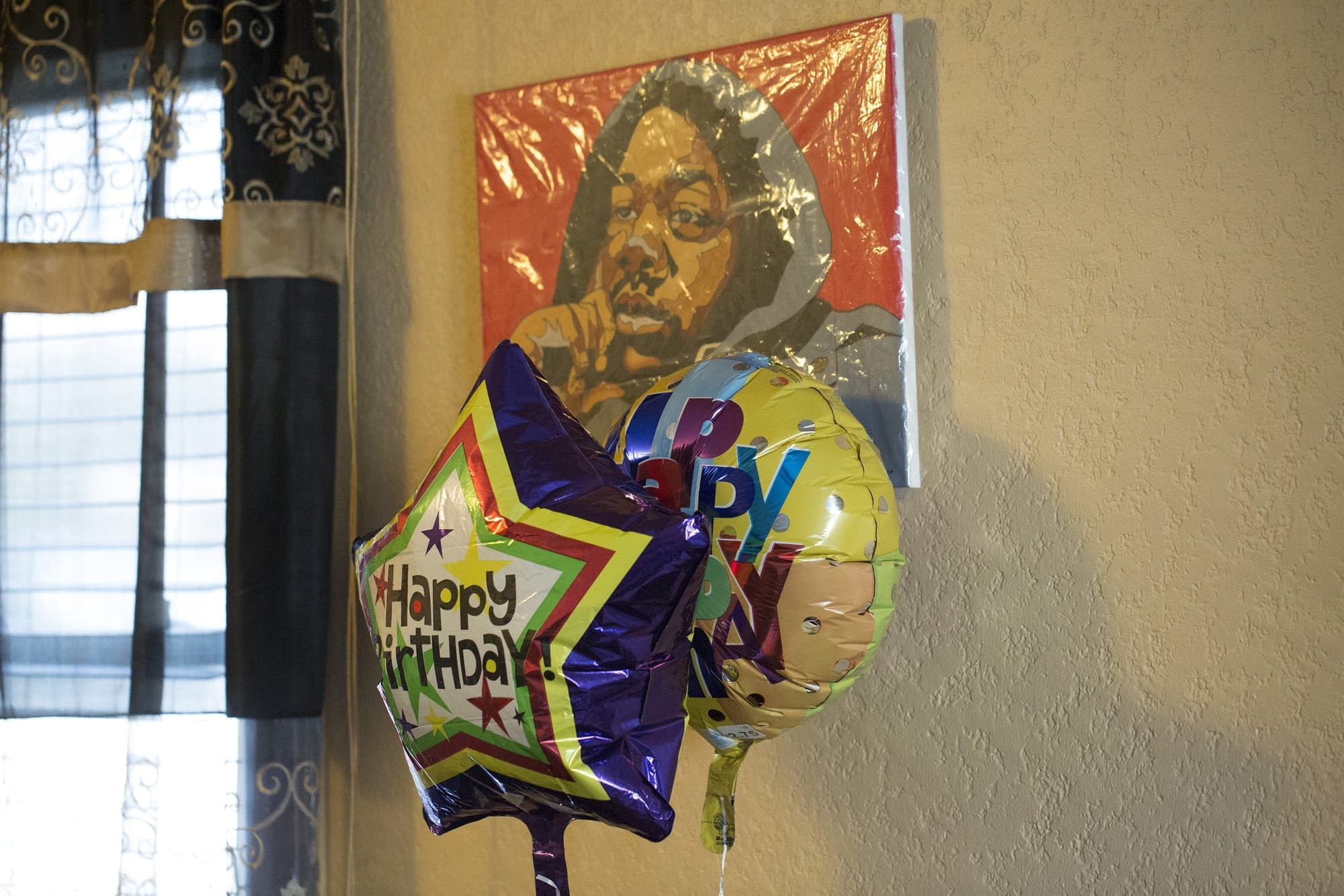A painting of Jamar Clark