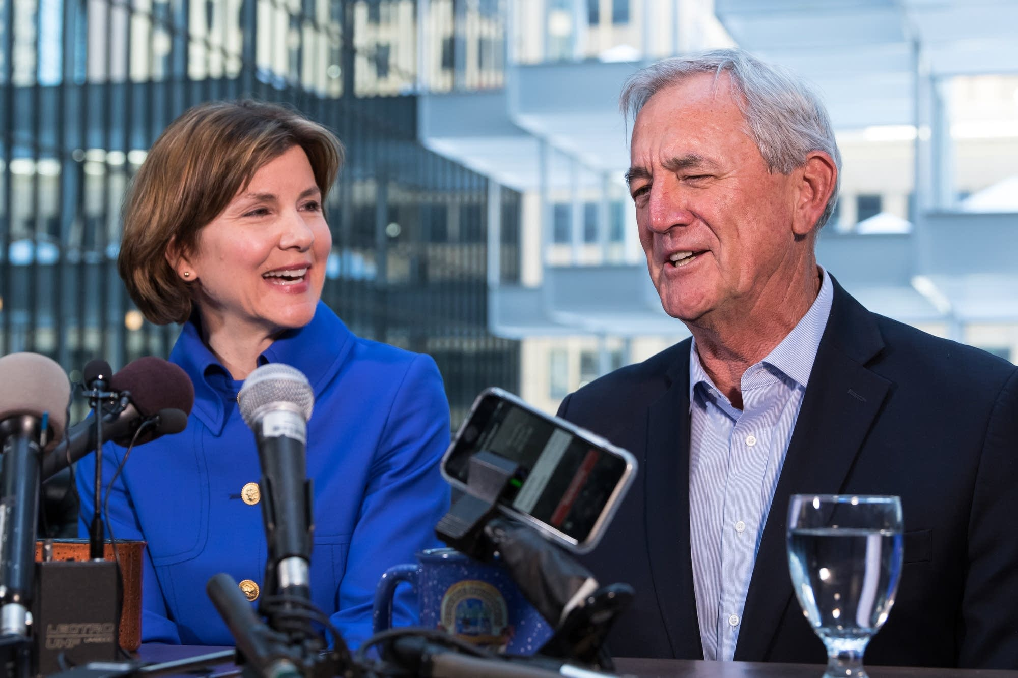 Minnesota attorney general Lori Swanson and U.S. Rep. Rick Nolan.