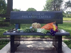 Memorials were left at J.J. Hill Elementary.