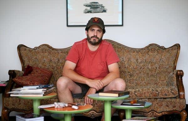 Photographer Alec Soth in his studio