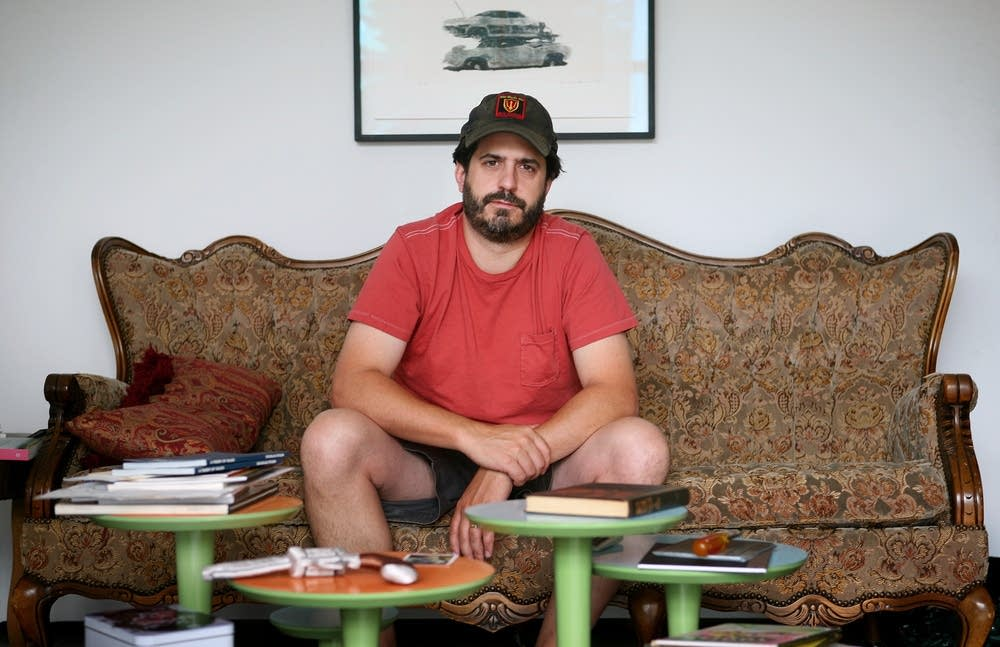 Photographer Alec Soth in his studio
