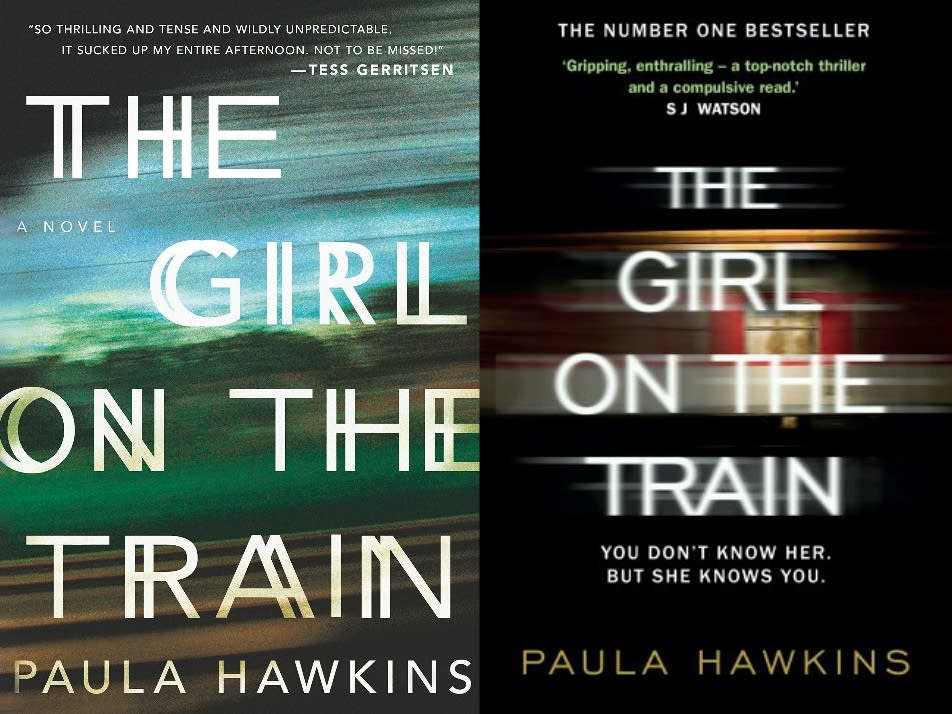 The U.S. and U.K. covers of 'Girl on the Train'