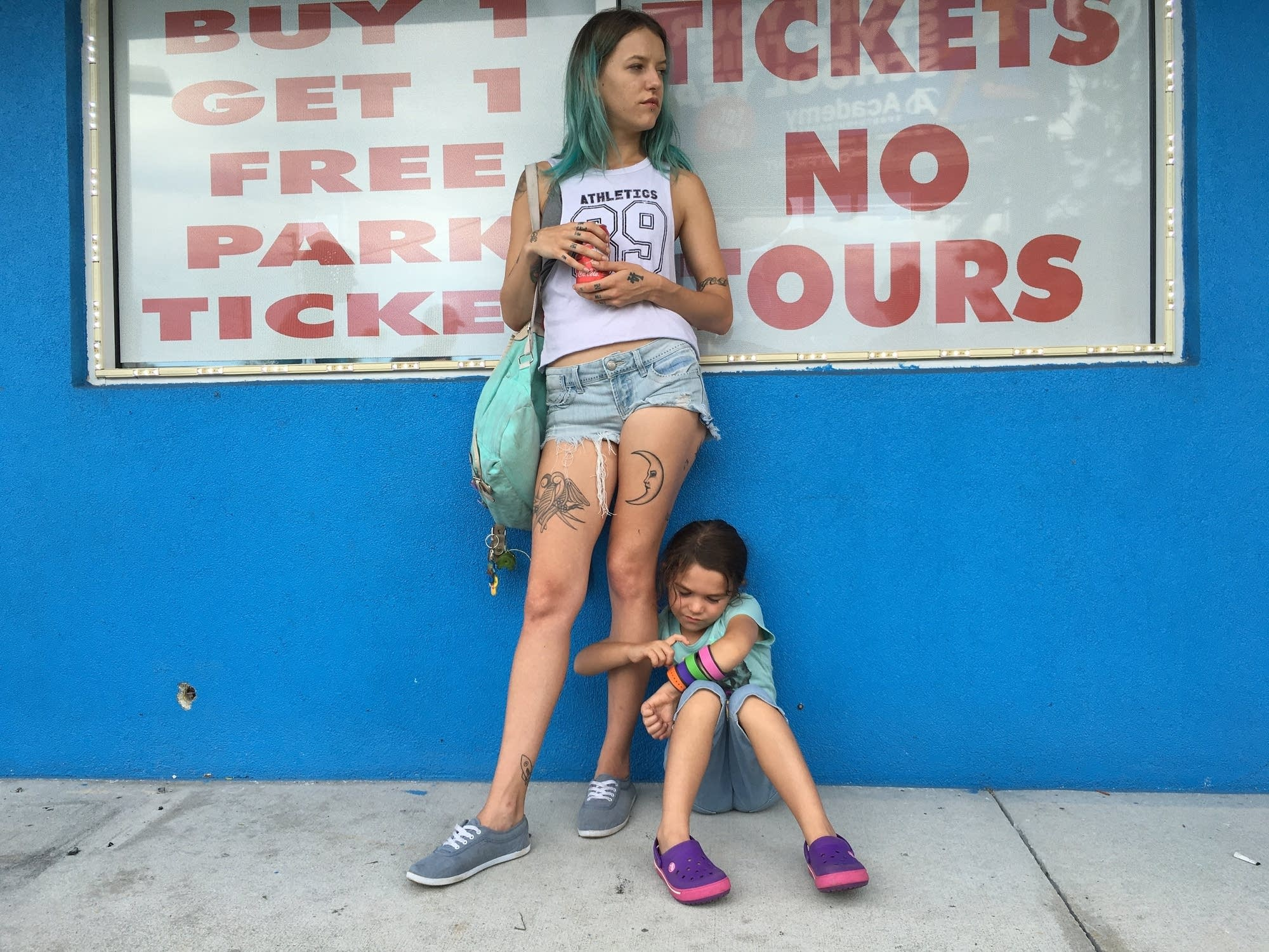 Bria Vinaite and Brooklynn Prince in 'The Florida Project.'