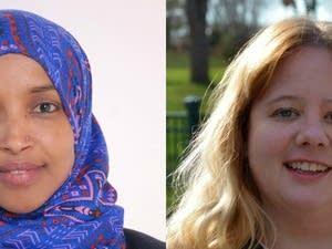Ilhan Omar and Jennifer Zielinski