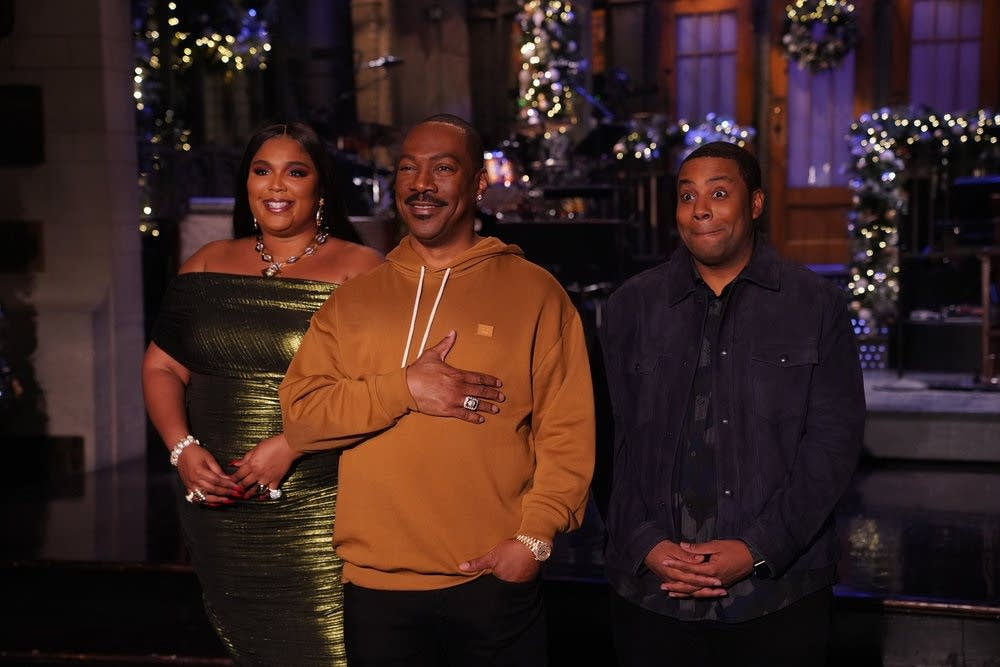 Lizzo, Eddie Murphy and Kenan Thompson in 'Saturday Night Live' promo