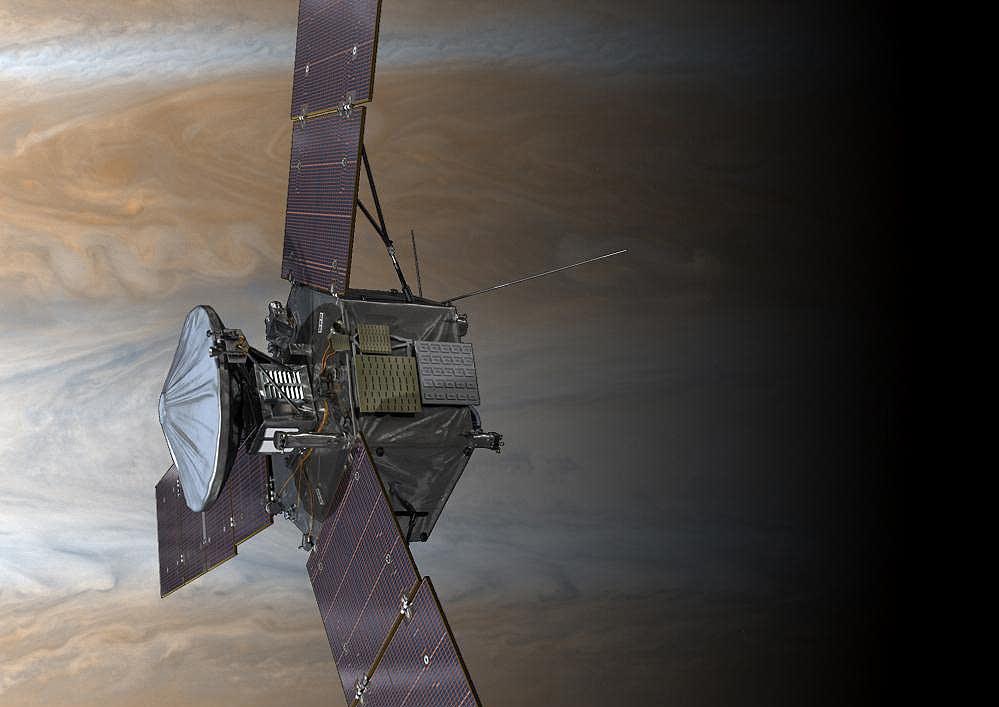 Artist's rendering of Juno in orbit