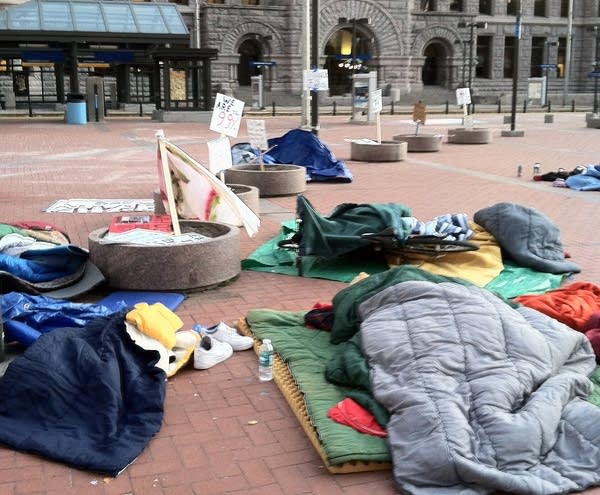 Occupy MN protesters asleep