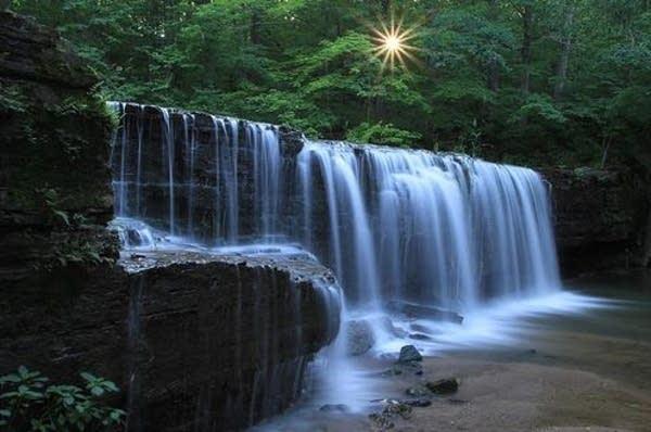 waterfall at Nerstrand State Park