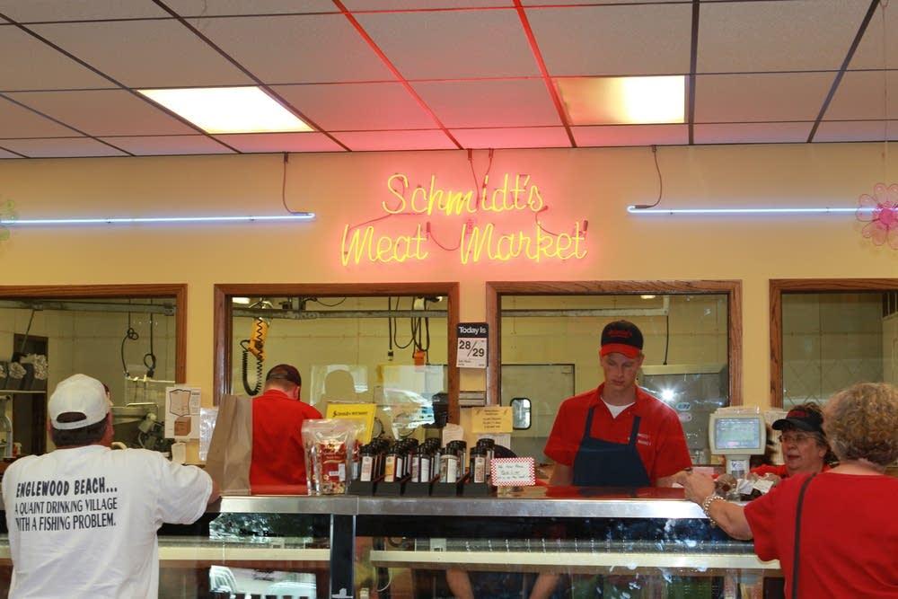 Schmidt's Meat Market in Nicollet, MInn.