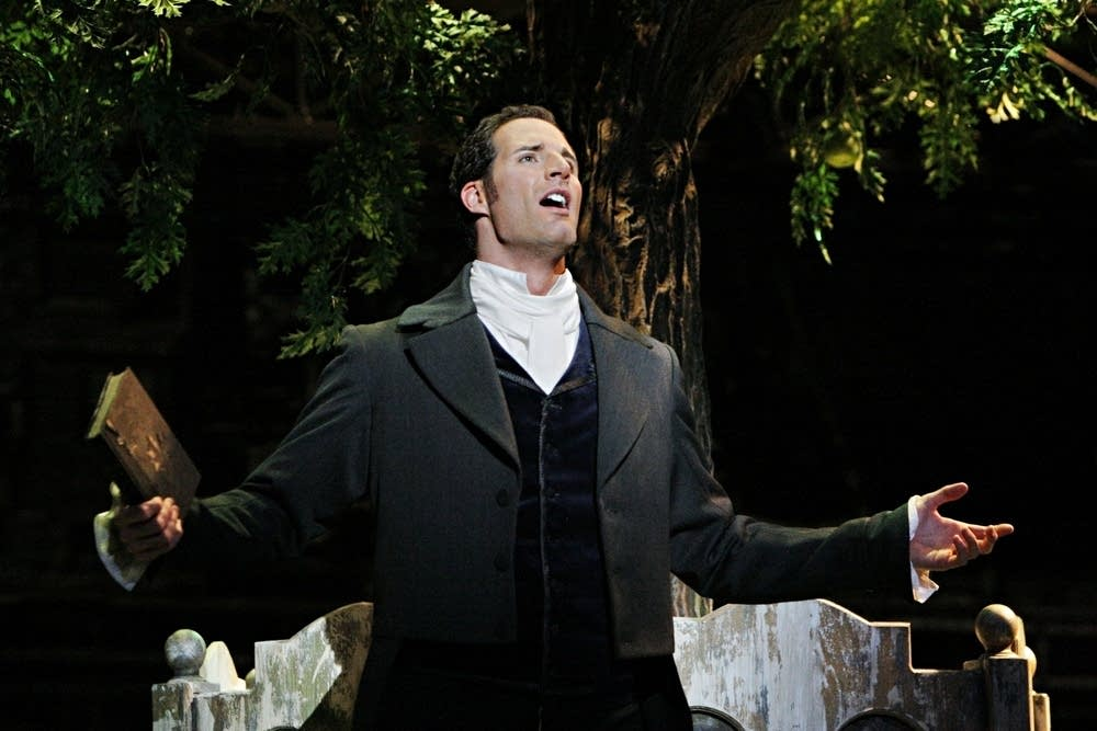 James Valenti as Werther, a poet