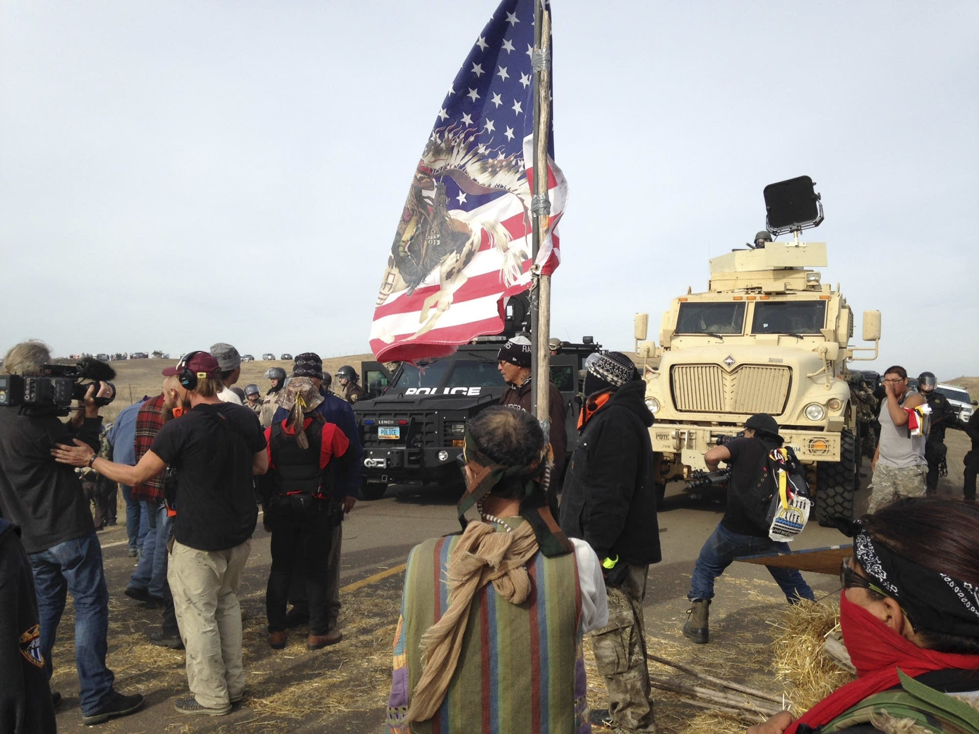 Dakota Access pipeline protesters