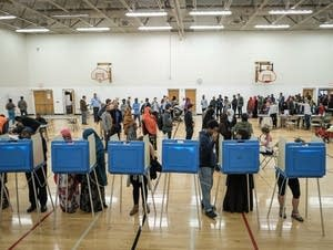 Voters cast their ballots at the Brian Coyle Comm. Ctr.