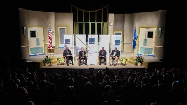 The debate at the Duluth Playhouse