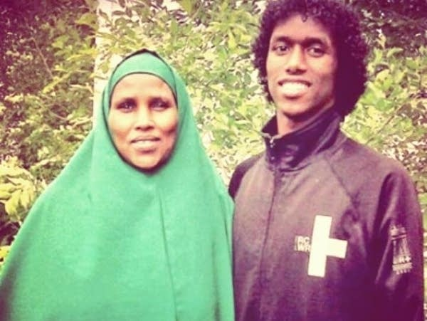 Guled Omar, right, and his mother Fadumo Hussein