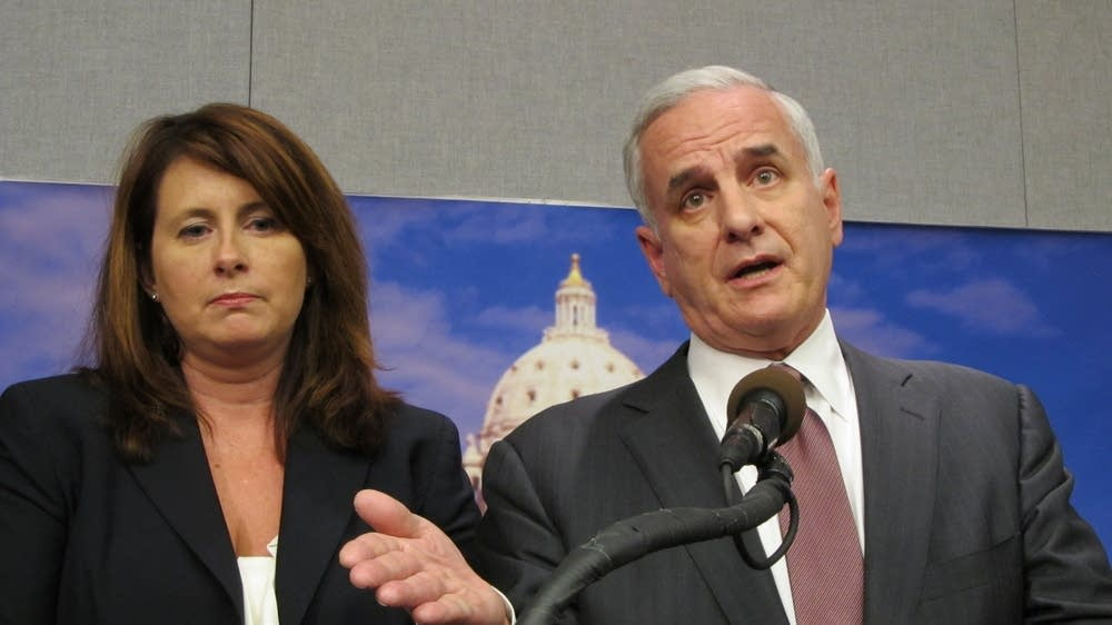 GOP Sen. Amy Koch and DFL Gov. Mark Dayton